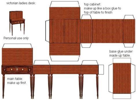 cardboard dolls house furniture templates borboleta azul m 243 veis de papel para montar