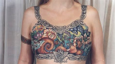 mastectomy tattoos pink ink tattoos transform mastectomy scars into