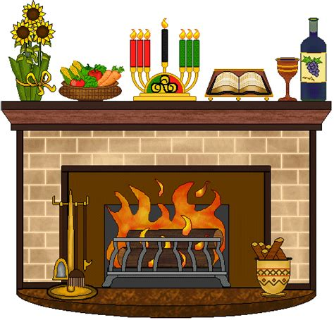Fireplace Clipart by Fireplace Clip Kwanzaa Fireplace Clip Kwanzaa