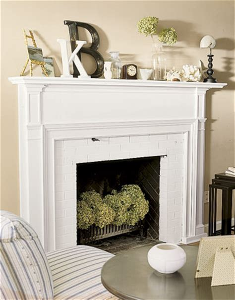 White Fireplace Mantel Ideas by White Mantel On Brick Fireplace Decor