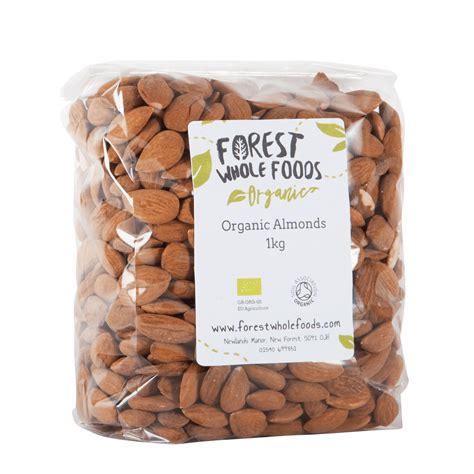 Whole Almond 1kg organic unblanched almonds forest whole foods