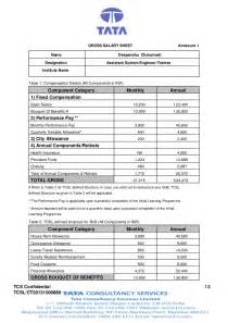 Appointment Letter Format With Salary Annexure Ct20131000889