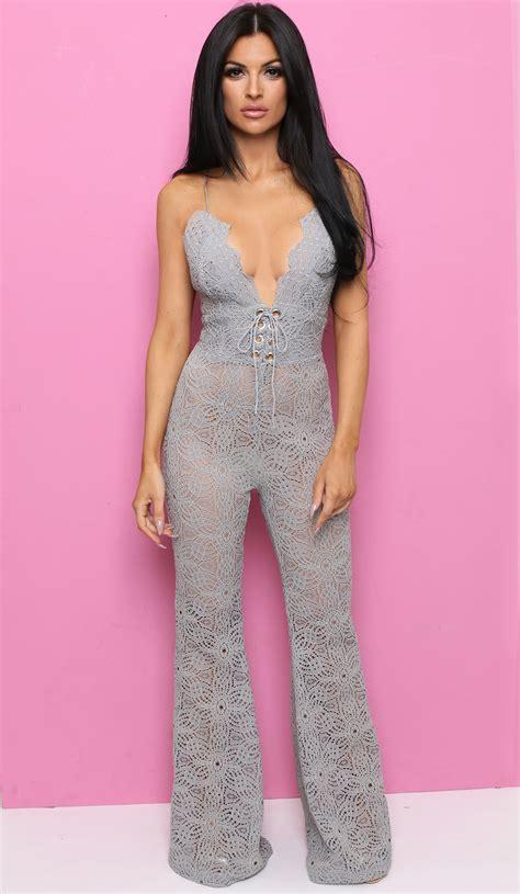 Jumpsuit Greya grey jumpsuit lola boutique