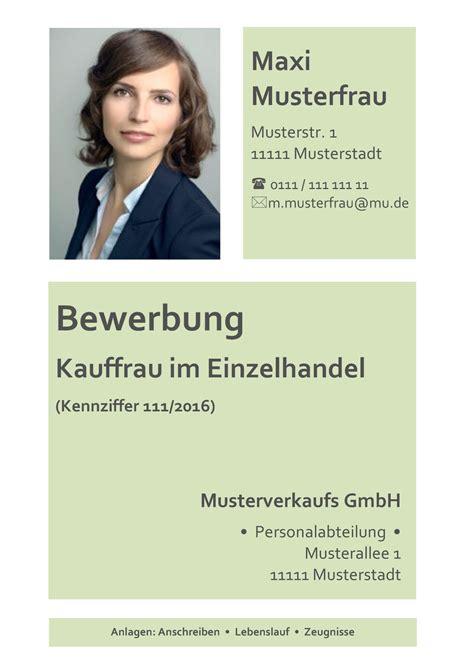 Bewerbungsfoto Einzelhandel Deckblatt In Der Bewerbung 252 Ber 100 Kostenlose Muster Vorlagen