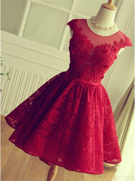 solo dress cute red knee length red short lace christmas