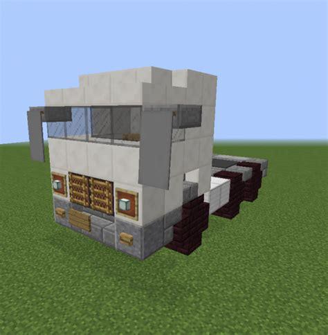 minecraft semi truck european white semi trailer truck grabcraft your
