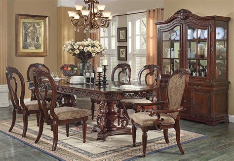 Acme Dining Room Set Acme Gwyneth 7pc Pedestal Dining Room Set In Cherry By Dining Rooms Outlet