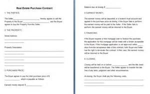 real estate contract template free contract templates word pdf agreements part 6