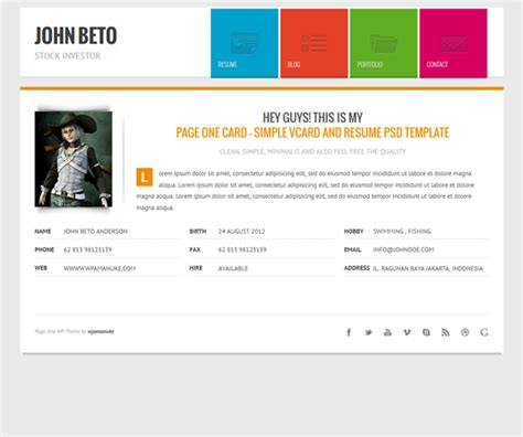 layout form wordpress this cv wordpress theme offers a working ajax contact form