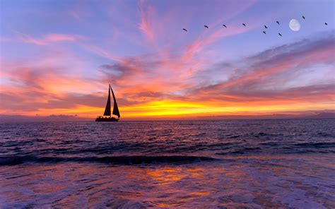 sailboat no background sailboat silhouette and purple sky background wallpaper wiki