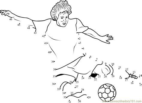 printable dot to dot sports football kick dot to dot printable worksheet connect the