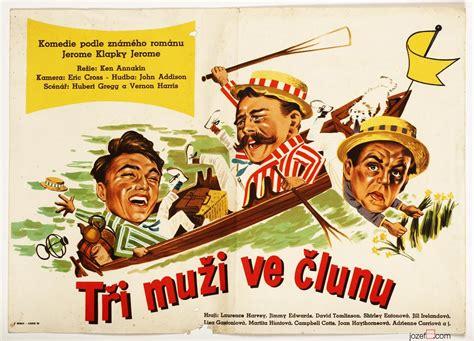 three men in a boat movie three men in a boat movie poster 1950s vintage poster art