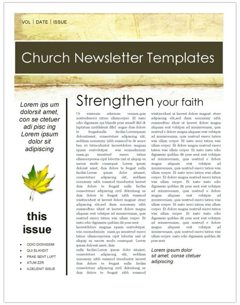 Spring Flowers Church Newsletter Template Newsletter Templates Christian Newsletter Templates