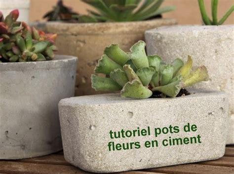 Fabriquer Pot De Fleur En Ciment by Faire Des Pots De Fleurs En Ciment Les Tutos