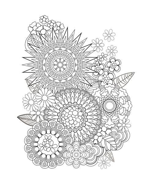 coloring pages of flower designs adult coloring tips jenean morrison art design