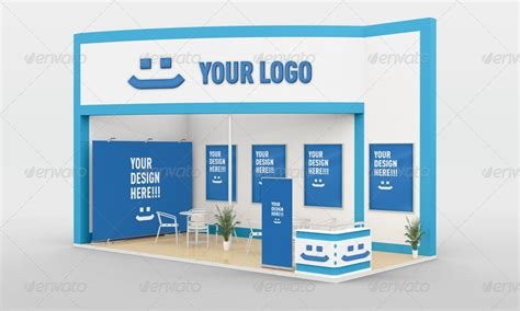 exhibition stand design mockup free download free trade show booth mock up in psd free psd templates