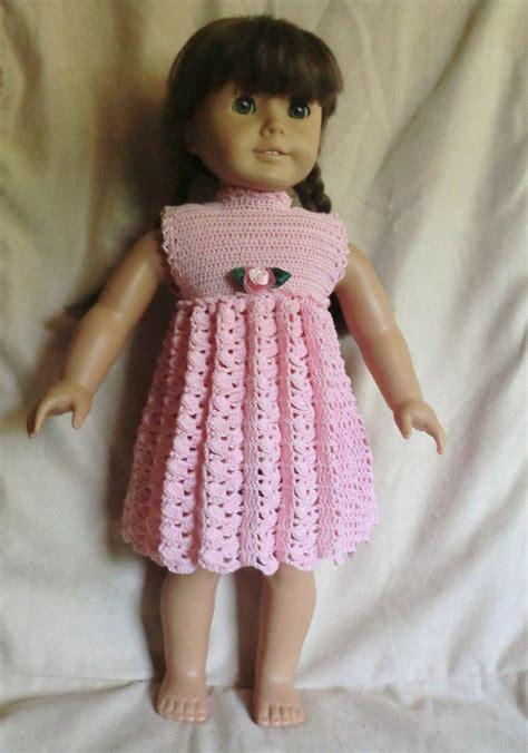 pattern crochet doll dress crochet pattern 164 empire waist for 18 inch dolls