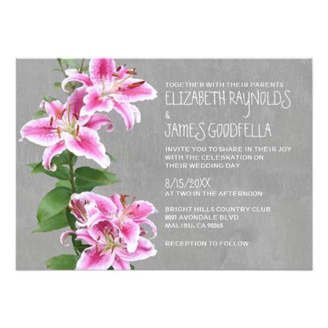 Wedding Invitations Stargazer Lilies stargazer wedding invitations zazzle