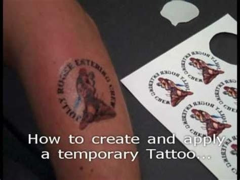 How To Make Temporary Paper - how to create temporary with themagictouch 174 tattoo2
