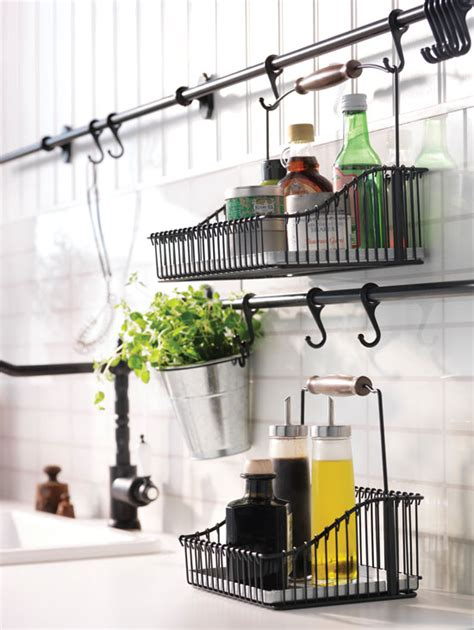 ikea hanging kitchen storage 31 home storage solutions healthy home mother earth living