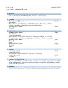 Word Resume by Resume Word Templates Free Word Templates Ms Word Templates Part 2