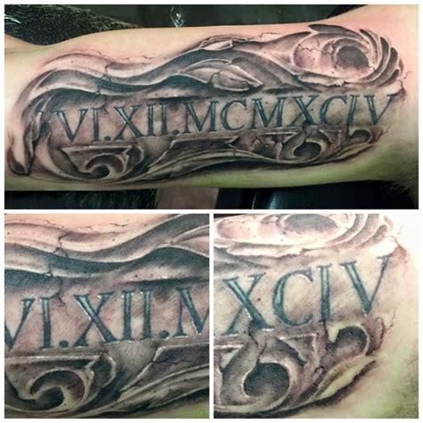 roman numeral 4 tattoo numeral filigree tattoos by me