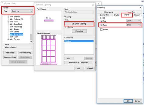 changing default window sill softplantuts