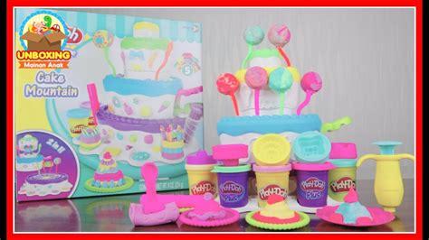 Mainan Anak Play Doh Cake mainan anak play doh birthday cake mountain how to make