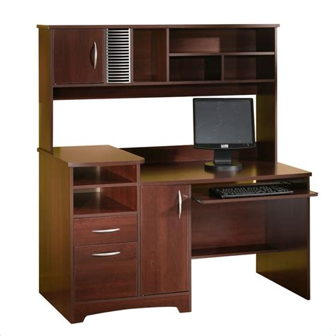 Wood Computer Desk With Hutch South Shore Park Collection Wood Computer Desk W Hutch Ebay