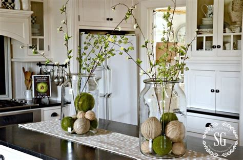 farmhouse spring island vignette thanksgiving kitchen 10 beautiful spring home decor ideas