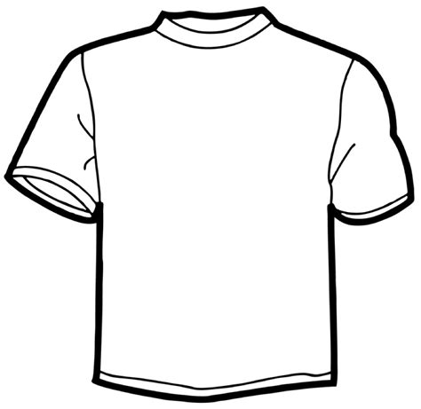 Drawing T Shirt Outline by T Shirt Outline Printable Clipart Best