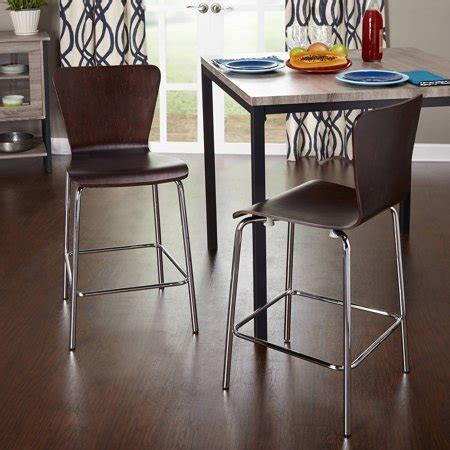 24 Bar Stools Walmart by Pisa Counter Height Stool 24 Quot Set Of 2 Colors