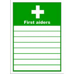 aid poster template aid sign list of aiders clipart best