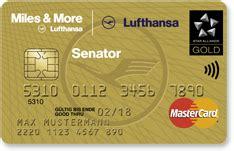 senator kreditkarte versicherung more lufthansa senator credit card world plus