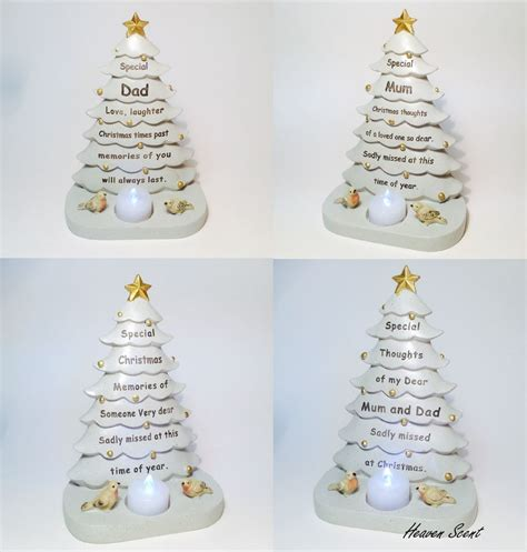 christmas tree grave memorial ornament for mum dad friend