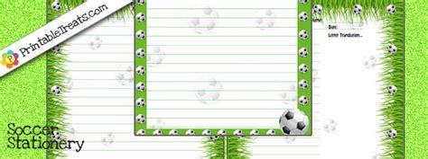 printable soccer stationery free printable stationery paper soccer printable treats com