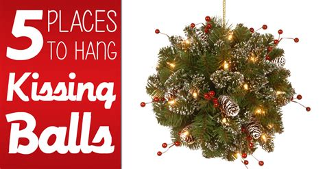 Front Porch Christmas Trees 5 places to hang a kissing balls