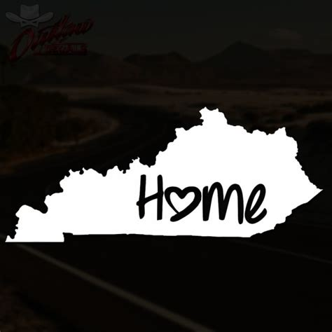 kentucky home decal outlaw decals