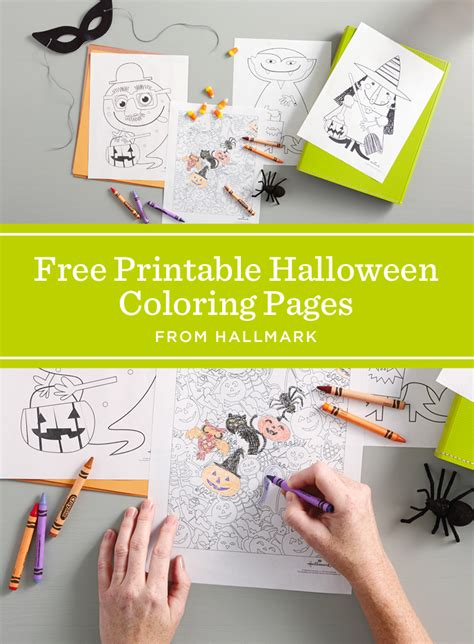 hallmark coloring pages halloween nests for less and free printable on pinterest