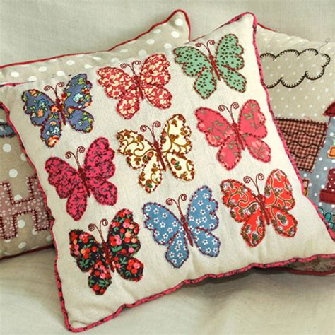 Patchwork Butterfly - patchwork butterflies cushion rex at dotcomgiftshop