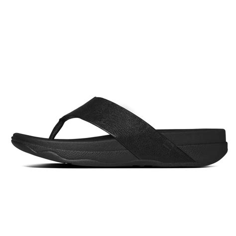 Sandal Surfer 8 fitflop surfer mens toe post sandal in black leather fitflop from nicholas thomson uk