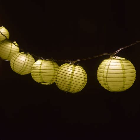 4 Quot Chartreuse Round Shaped Party String Lights Ebay String Of Lantern Lights