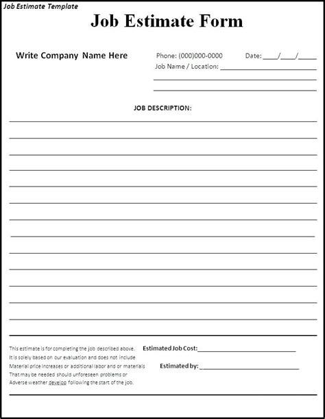 Contractor Bid Forms Snow Removal Bid Form Free Sle Construction Bid Forms Virtuart Me Bid Estimate Form Template