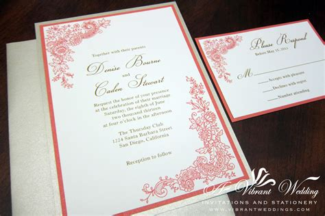 coral wedding invitations rustic theme designs a vibrant wedding web
