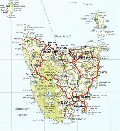 printable road map of tasmania tourist map of tasmania roads of tasmania tasmania
