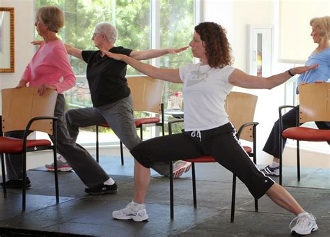 armchair yoga for seniors at the 2013 senior expo an exercise physiologist from the