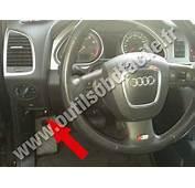 OBD2 Connector Location In Audi Q7 4L 2006  2015