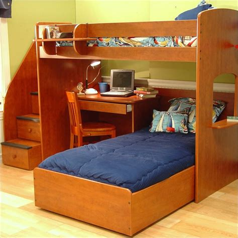 Bunk Bed With Desk And Stairs Bunk Bed With Desk Best Alternative For Room Homesfeed