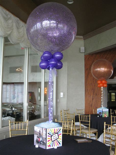 Centerpieces Balloon Decorating Party Favors Ideas Table Centerpieces With Balloons