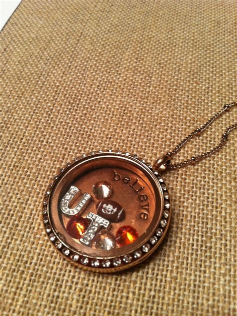 Origami Owl Like Lockets - go vols origami owl locket tennessee vols